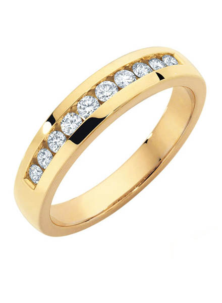 Women Diamond Wedding Band